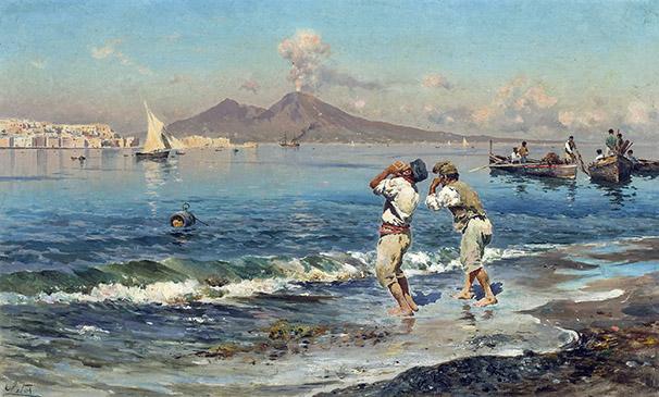 02-Antonino_Leto_81844-1913-_Una_veduta_del_golfo_di_Napoli_con_i_pescatori